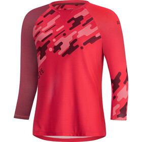 GORE WEAR C5 Trail Maglietta Jersey 3/4 Donna, hibiscus pink/chestnut red